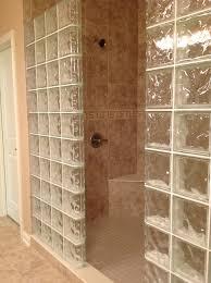 glass block shower wall dublin ohio mediterranean bathroom