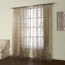 fresh ideas embroidered sheer curtains pretty design one panel country