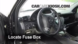 interior fuse box location mercedes benz c  interior fuse box location 2001 2007 mercedes benz c230