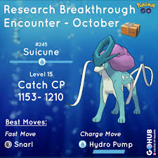 October Suicune Field Research Guide New Quests Shiny