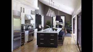One wall kitchen design with island