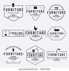 vintage furniture logo. Delighful Vintage Furniture Emblem Vintage Vector Set Hipster And Retro Style For Corporate  Identity Throughout Vintage Logo O