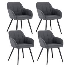 Woltu 4 X Esszimmerstühle 4er Set Esszimmerstuhl Küchenstuhl Polsterstuhl Design Stuhl Mit Armlehne Gestell Aus Metall Bh93 4 Samtmöbel