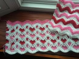 Crochet Ripple Pattern Gorgeous Heart Afghan Crochet The Sparkly Toad