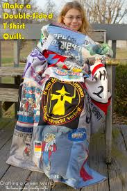 make a double sided t shirt quilt