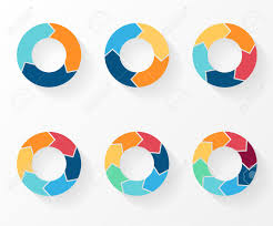 3 4 5 6 7 8 Circle Arrows For Infographic Diagram Graph