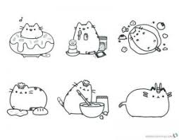 Get These Pusheen Coloring Pages And Have Fun With It Free