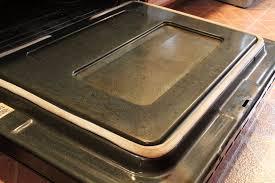 how to clean oven glass door no coat
