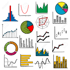 Charts Or Graphs Icons For Business Or Infographic Themes Design