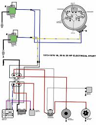 mastertech marine evinrude johnson outboard wiring diagrams 18 25 hp electric start 1973 76