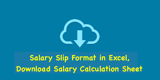 Salary Calculator In Excel Free Download Salary Slip Format In Excel Download Salary Calculation Sheet