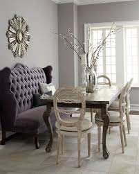 great idea for a dining area to use a cushioned bench or loveseat against a wall no place like home dining room dining room