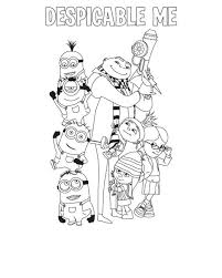 Small Picture Despicable Me Coloring Pages The Family Cartoon Coloring pages