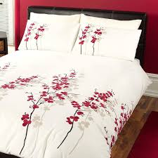 oriental flower duvet cover set