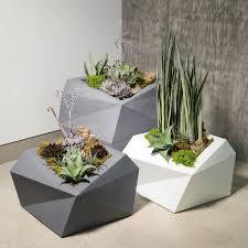 crescent garden planters. Origami Tall 26\ Crescent Garden Planters