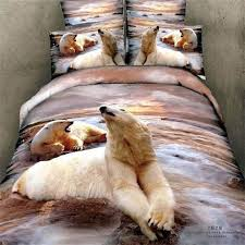 3d animals printing polar bear bedding set queen size bed sheet pillowcase quilt cover bed in a bag 100 cotton bedroom sets duvets sets cover duvet from