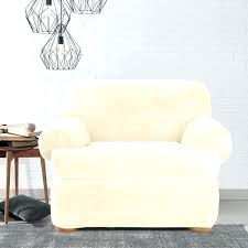 sure fit dining chair slipcovers chair slipcovers sure fit stretch plush cream t cushion chair slipcover