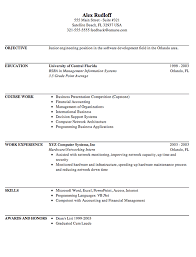Resume Examples Example Internship Resume Template Sample