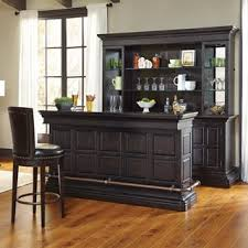 home mini bar furniture. mancino wood and granite bar in dark cherry home mini furniture r