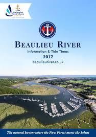 Beaulieu River Information Tide Times 2017 By Beaulieu Issuu