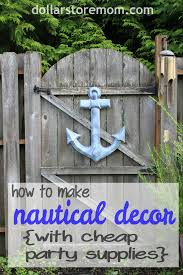 how to make nautical patio decor from party supplies