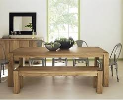 Farmhouse Dining Table With Thick Reclaimed By MadeInTheCellar Wood Bench Dining