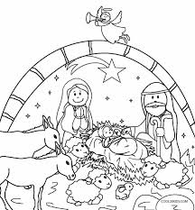Small Picture Printable Nativity Scene Coloring Pages for Kids Cool2bKids