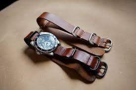 leather nato strap zulu strap designer kohi youbi handmade leather watchbands i