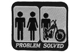 problem solved marriage and motorcycle patch