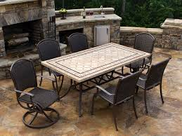 meridian all weather wicker patio dining set khaki seats 8. tortuga outdoor marquesas 7 piece wicker dining set meridian all weather patio khaki seats 8 r