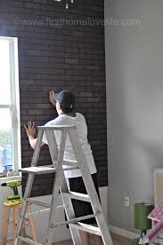 Painting Fake Brick Paneling Faux Brick Ifying First Home Love Life