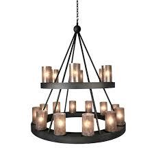 2 tier chandelier camino candle