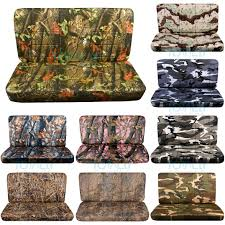 camouflage print bench seat covers without armrest console cover