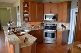 Rustic Beech Cabinets Angled Kitchen Cabinets Katiefellcom