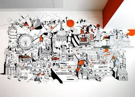 office walls design. inside nikeu0027s london offices illustration walls and wall murals office design