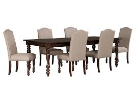 langlois furniture. Baxenburg Brown Rectangular Dining Room Extension Table W/6 Upholstered Side Chairs,Signature Design Langlois Furniture L