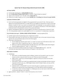Extraordinary Resume Template For Federal Jobs With Cover Letter