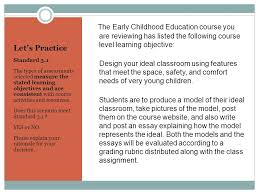 using the quality matters rubric to improve online course design  the early childhood education course you are reviewing has listed the following course level learning objective