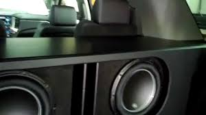 2015 Tahoe with 2 JL Audio 12W6v3 subs - YouTube