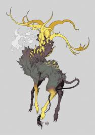 Artstation Yellow Deer Ni O Creatures In 2019 Creature