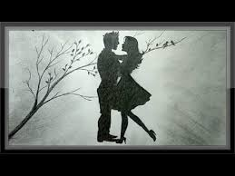 Pencil Sketches Of Couples Pencil Drawing Romantic Scenery The Love Draw Step By Step