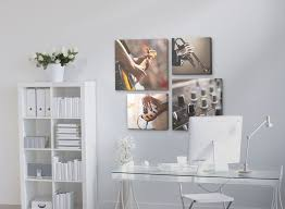 clear office. Office:Office Decorative Canvas Wall Art On White Color Plus Clear Glass Office Desk