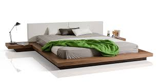 low platform bed with regard to modrest opal modern profile walnut idea 13