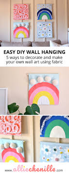 How Do You Design Your Own Fabric Decor Diy Create Your Own Wall Art Using Fabric Alliechenille