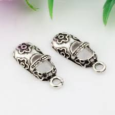 antique silver baby shoes charm pendants jewelry diy 22x9mm description