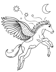 Small Picture Free Pegasus Coloring Page