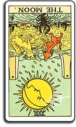 Though the moon is associated with many negative sounding words such as anxiety and suspicion, it is not a bad omen by any means. The Moon Moon Tarot Card Meaning From The Universal Waite Tarot Deck Webastrologers Com