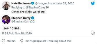 Последние твиты от stephen curry (@stephencurry30). Steph Curry Nick Young Other Nba Players React To Nate Robinson Ko