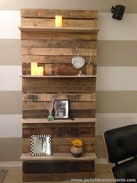 Shelves Made with Wood Pallets
