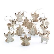 12 Kleine Holz Weihnachtsanhänger Baum Engel Rentier Hirsch Natur 6 Cm Braun Shabby Chic Baumschmuck Christbaumschmuck Baumbehang Christbaum